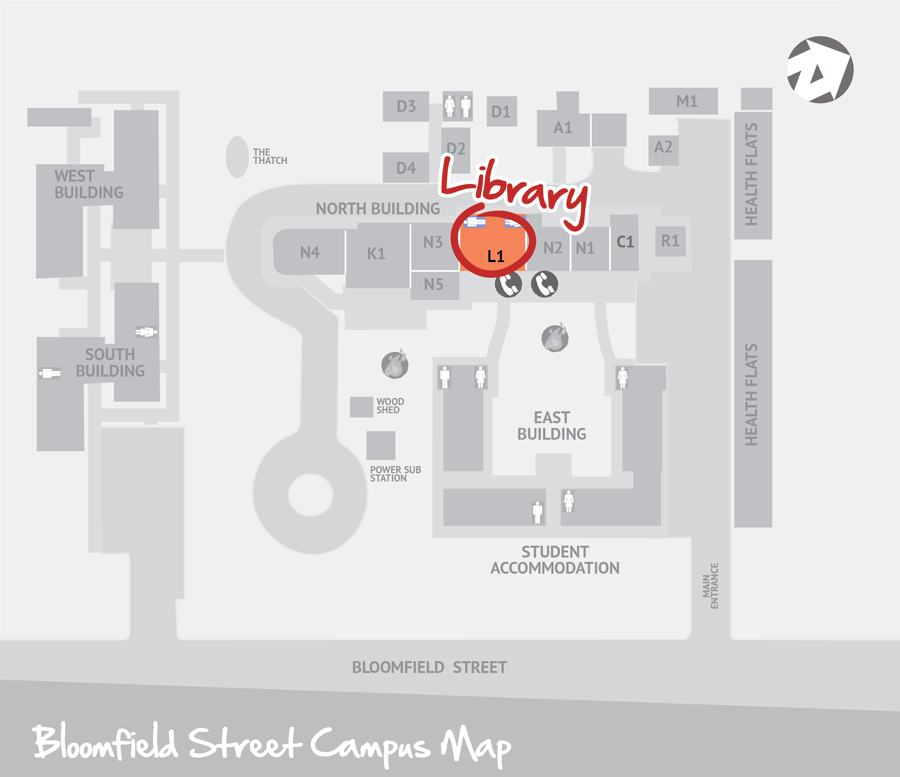 BIITE library map-Bloomfield